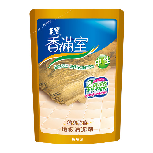 【香滿室】中性地板清潔劑(檀木馨香)1800g-補充包