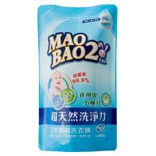 【毛寶兔】超天然小蘇打植物2倍濃縮洗衣精800g-補充包